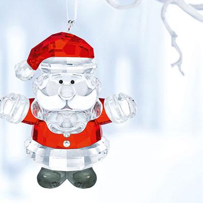 Swarovski Crystal, Santa Claus Crystal Ornament