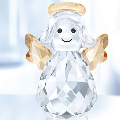 Swarovski Crystal, Rocking Angel Crystal Figure