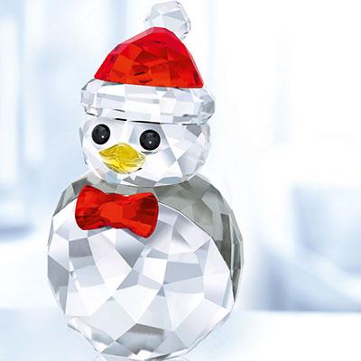 Swarovski Crystal, Christmas Rocking Penguin Crystal Figure