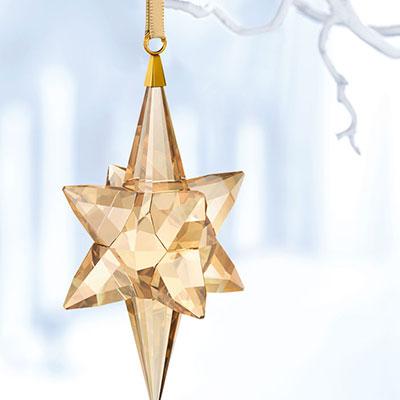 Swarovski Crystal, Gold Tone Star Crystal Ornament, Large