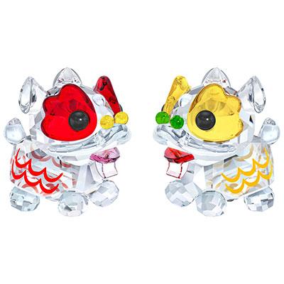 Swarovski Crystal, Dancing Lions