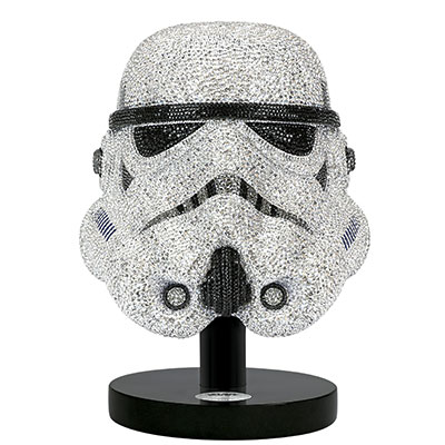 Swarovski Crystal, Myriad Star Wars Stormtrooper Helmet, Limited Edition Sculpture
