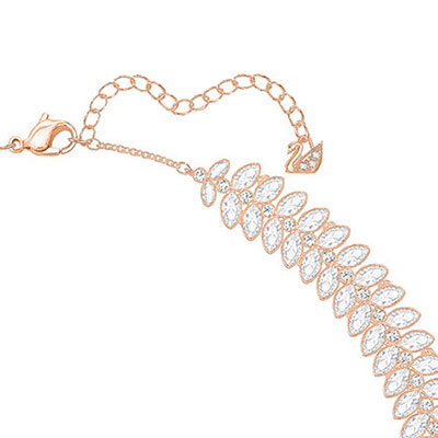 Swarovski Necklace Baron All-Around Crystal Rose Gold
