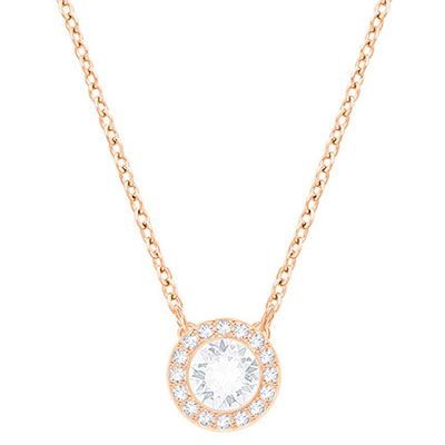 Swarovski Crystal and Rose Gold Angelic Pendant Necklace Crystal