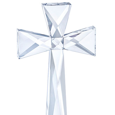 Swarovski Crystal, Brilliant Crystal Cross Sculpture