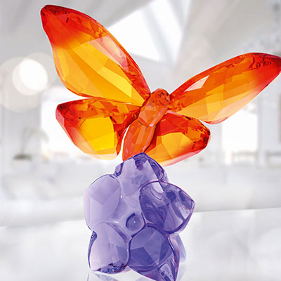 Swarovski Crystal, Paradise Butterfly On Flower