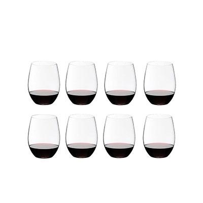 Riedel O Cabernet, Merlot Stemless Glasses Set, 6+2 Free