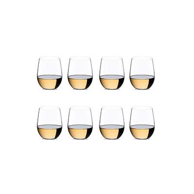 Riedel O Viognier, Chardonnay Stemless Glasses Set, 6+2 Free