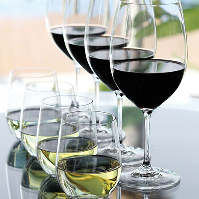 Riedel Vinum Gift Set - Four Vinum Bordeaux With Free 4 O Viognier