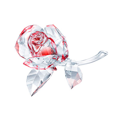 Swarovski Crystal Blossoming Rose, Red