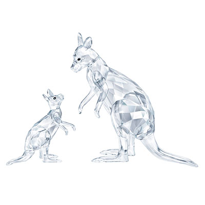 Swarovski Rare Encounters Kangaroo Mother With Baby