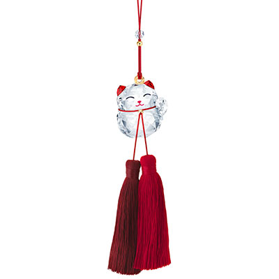 Swarovski Asian Ornaments Lucky Cat Ornament