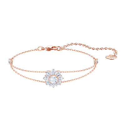 Swarovski Jewelry, Sunshine Bracelet Crystal Rose Gold Medium