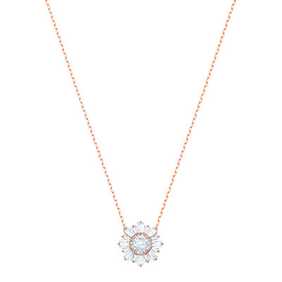 Swarovski Jewelry, Sunshine Pendant Medium Crystal Rose Gold