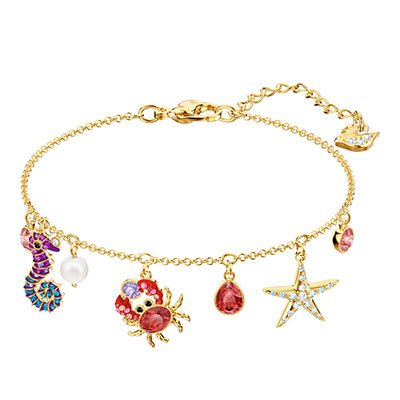 Swarovski Jewelry, Ocean Bracelet Multi Colored Gold Medium