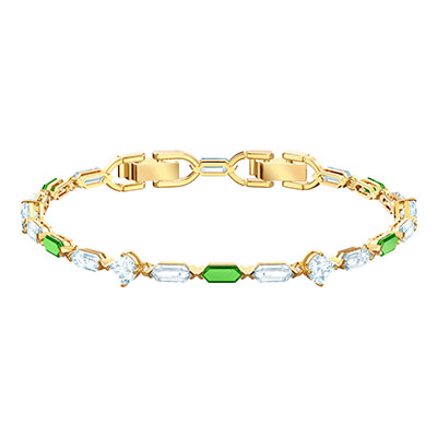 Swarovski Jewelry, Oz Bracelet Long Crystal Gold Medium