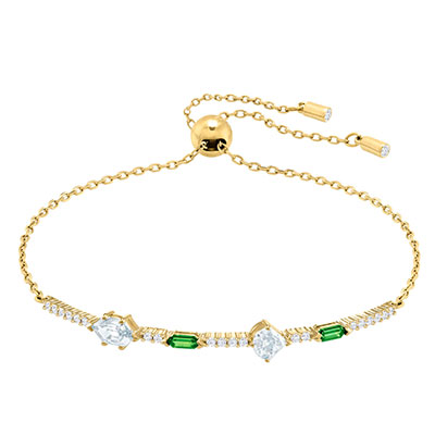 Swarovski Jewelry, Oz Bracelet Short Crystal Gold Medium