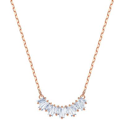 Swarovski Jewelry, Sunshine Necklace Small Crystal Rose Gold