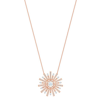 Swarovski Jewelry, Sunshine Necklace Long Crystal Rose Gold