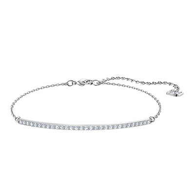 Swarovski Jewelry, Only Bracelet Line Crystal Rhodium Silver Medium