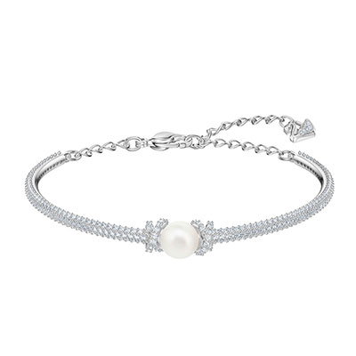 Swarovski Jewelry, Originally Bangle Crystal Rhodium Silver Medium