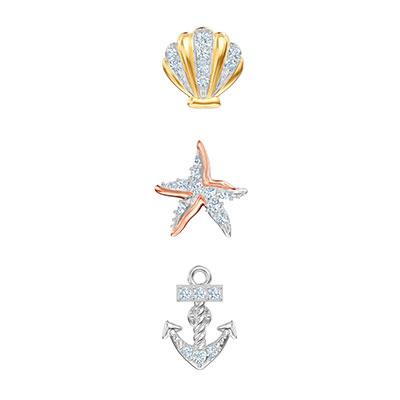Swarovski Jewelry, Ocean Pierced Earrings Multi Colored Mix
