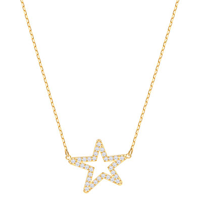 Swarovski Jewelry, Only Necklace Star Crystal Gold