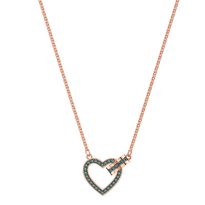 Swarovski Jewelry, Lovely Necklace Crystal Sini Rose Gold