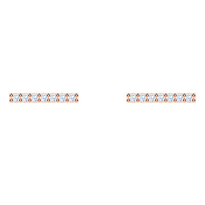 Swarovski Jewelry, Only Pierced Earrings Line Crystal Rose Gold