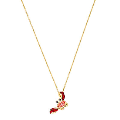 Swarovski Jewelry, Ocean Pendant Crab Multi-Color Gold
