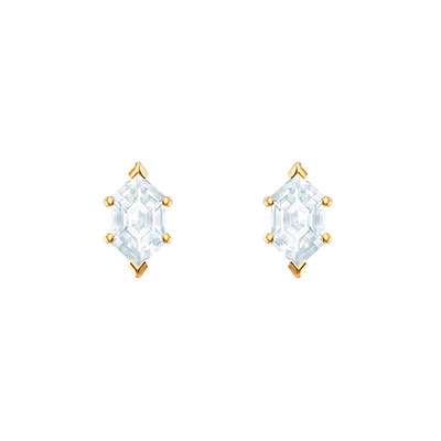 Swarovski Jewelry, Oz Pierced Earrings Crystal Gold