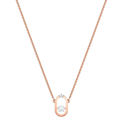 Swarovski Jewelry, North Necklace Oval Crystal Rose Gold