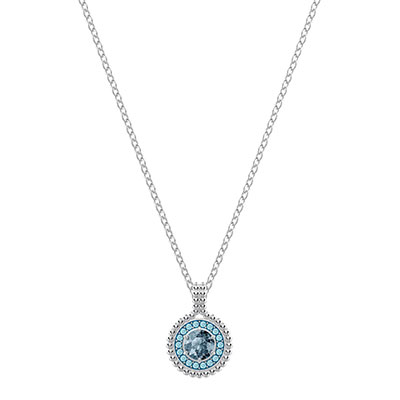 Swarovski Jewelry, Oxygen Pendant Green Rhodium Silver
