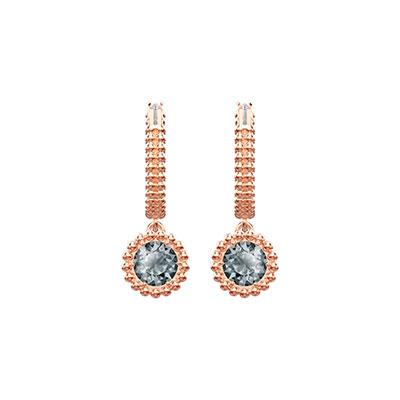 Swarovski Jewelry, Oxygen Pierced Earrings Hoop Crystal Sini Rose Gold