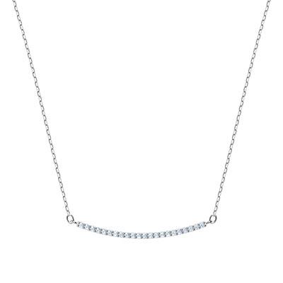 Swarovski Jewelry, Only Necklace Line Crystal Rhodium Silver