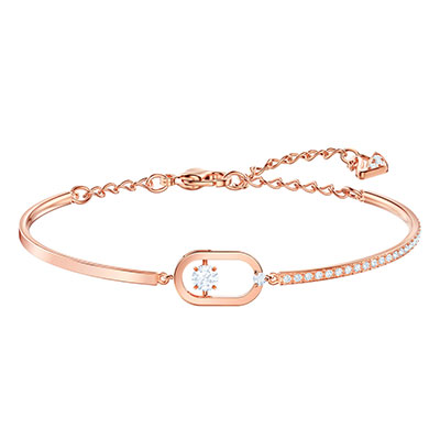 Swarovski Jewelry, North Bracelet Oval Pave Crystal Rose Gold Medium