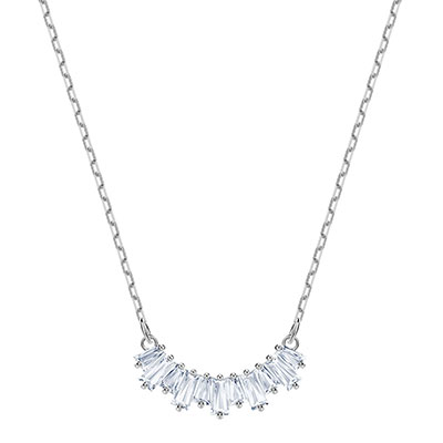 Swarovski Jewelry, Sunshine Necklace Small Crystal Rhodium Silver