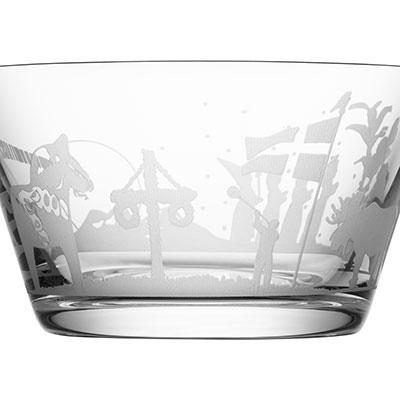 Orrefors Crystal, Sweden Symbols Crystal Bowl