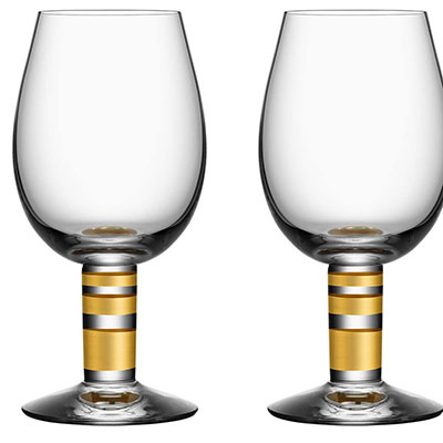 Orrefors Crystal, Morberg Exclusive Crystal White Wine, Pair
