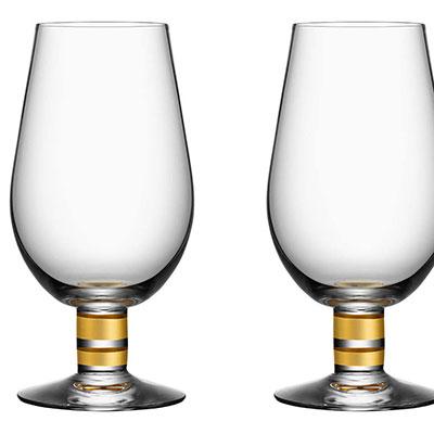 Orrefors Crystal, Morberg Exclusive Crystal Beer Glass, Pair