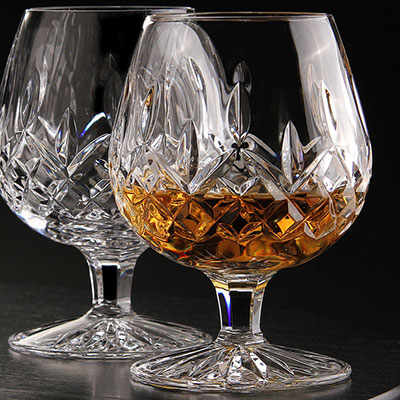 Waterford Crystal, Lismore Large Crystal Brandy, Pair