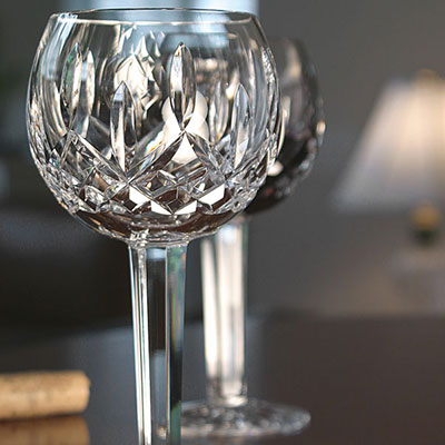 Waterford Crystal, Classic Lismore Crystal Balloon Wine Glass, Single