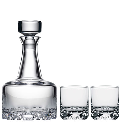 Orrefors Erik Decanter and 2 DOF Barware Set