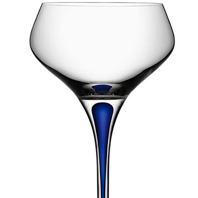 Orrefors Intermezzo Blue Champagne Coupe, Single