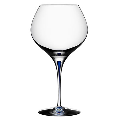 Orrefors Crystal Intermezzo Blue Bouquet Glass, Single
