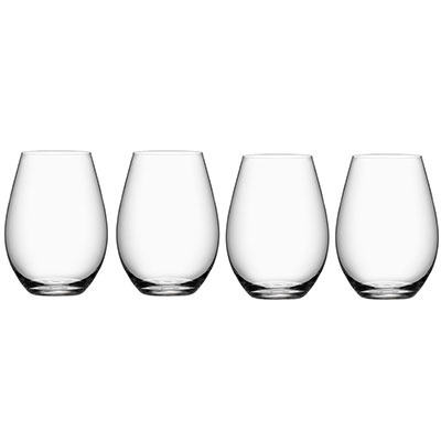 Orrefors Crystal, More Stemless Crystal Wine Tumblers, Set of Four