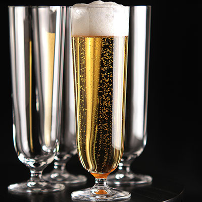 Orrefors Crystal, Crystal Beer Pilsner, Set of Four