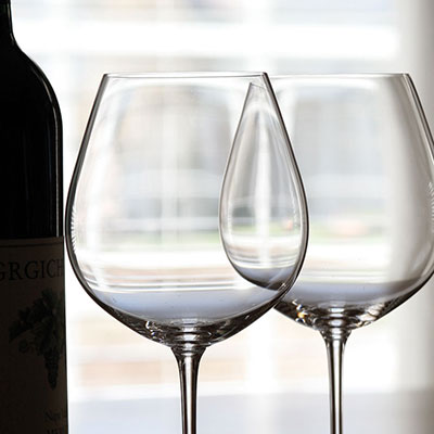 Riedel Vinum, Burgundy, Pinot Noir Crystal Wine Glasses, Pair