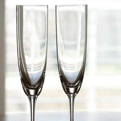 Riedel Vinum, Champagne Crystal Glasses, Pair