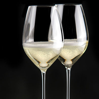 Riedel Veritas, Champagne Crystal Glasses, Pair